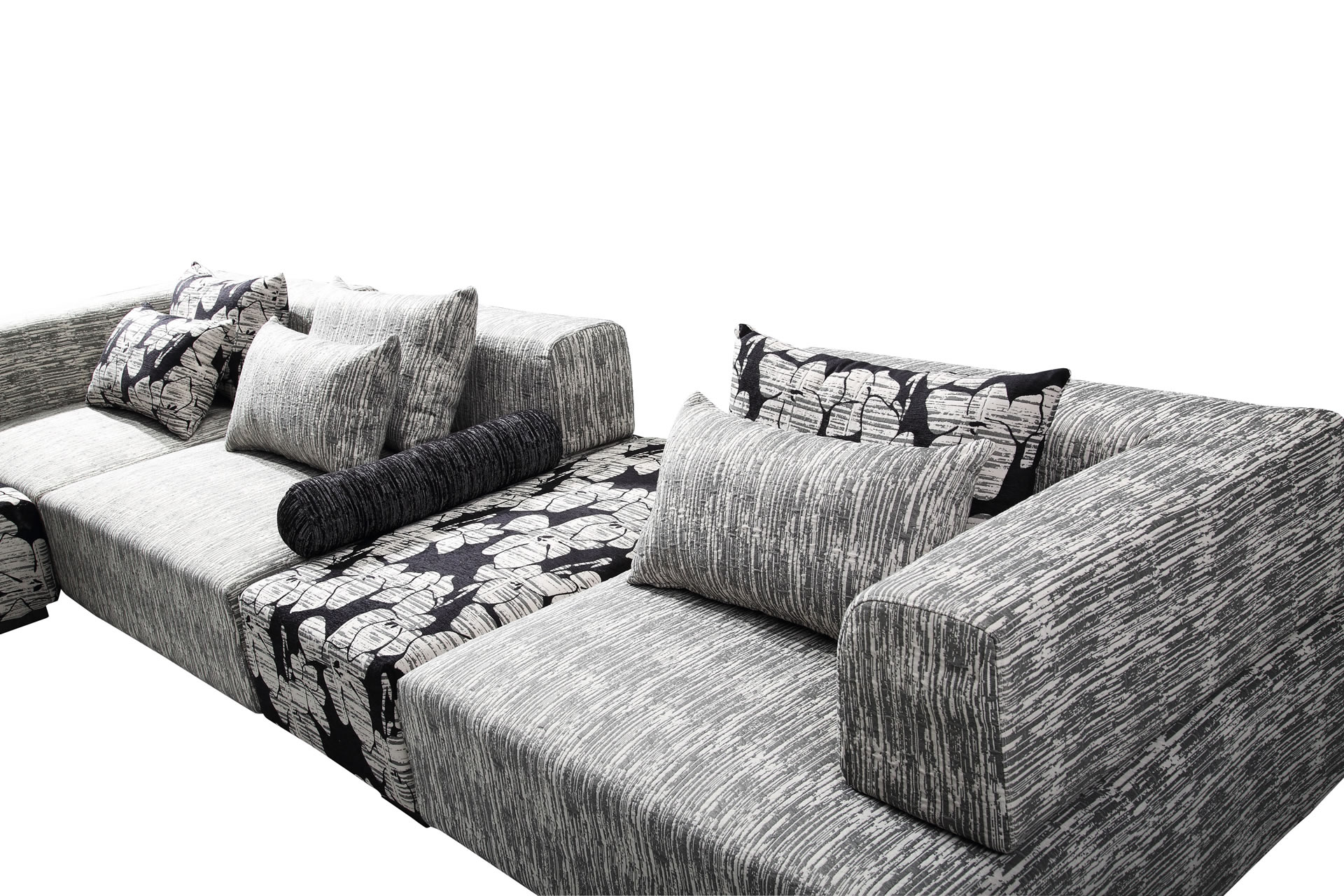 wohnlandschaft alina zebra designer sofa couch couchgarnitur eckgarnitur ecksof ebay. Black Bedroom Furniture Sets. Home Design Ideas